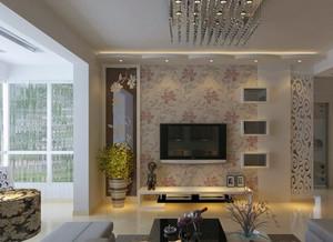 现代简约风格印花电视背景墙装饰