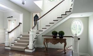大户型别墅素雅楼梯设计装修效果图片
