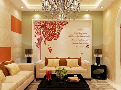 現代簡約風格復式樓硅藻泥沙發背景墻裝飾