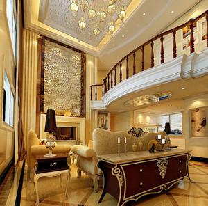 躍層傳統風格客廳裝修效果圖