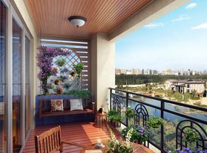 复式楼时尚风格阳台装修效果图