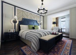 现代都市大户型卧室背景墙装修效果图