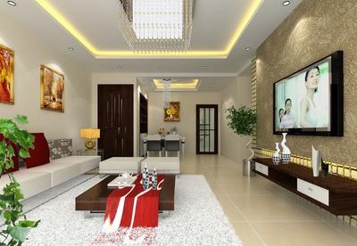 大户型传统型客厅装修效果图