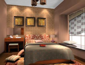 卧室 东南亚 局部其他 户型其他装修