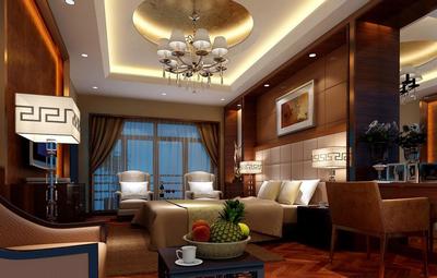 東南亞風格豪華復式樓臥室裝修效果圖片