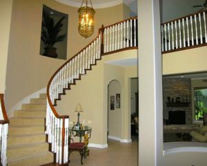 现代大户型欧式室内楼梯设计装修效果图
