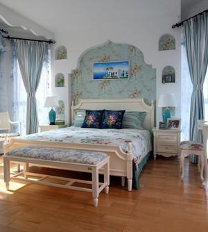 大户型简朴型卧室背景墙装修效果图