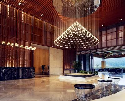 200平米现代简约风格深色独栋别墅装修效果图