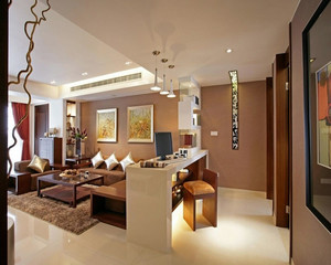現代美式大戶型新房裝修效果圖