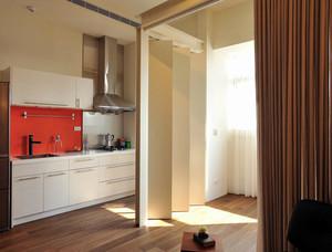 现代简约风格小型单身公寓厨房装修效果图