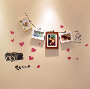 三居室心形照片墙设计效果图