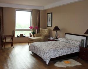 30平米现代简约风格老年公寓卧室足彩导航效果图