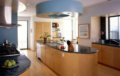 躍層簡約風格廚房裝修效果圖