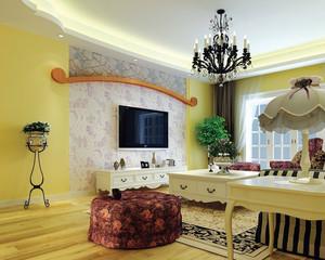 100平米韓式風格客廳裝家壁紙裝修效果圖