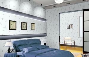 三居室居室创意液体壁纸装修效果图片