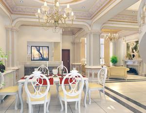 120平米房子大户型欧式客厅装修效果图实例欣赏