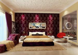浪漫簡約家裝臥室壁紙效果圖片大全
