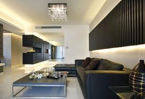 现代优雅大客厅灯具装修效果图欣赏