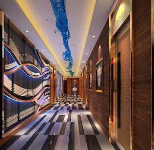 个性时尚ktv走廊墙面足彩导航设计效果图