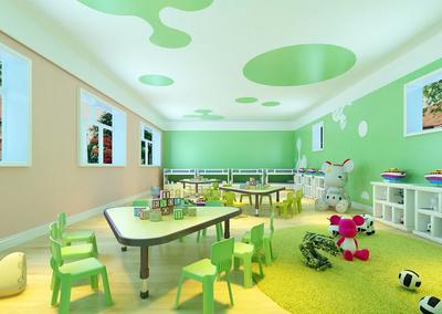 欢快清新幼儿园教室装修设计效果图