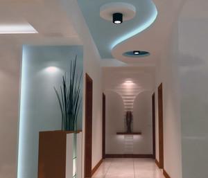 现代欧式大户型精致的走廊吊顶装修效果图