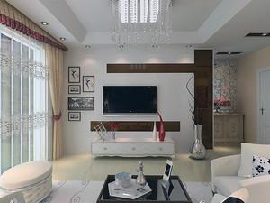 2016欧式单身汉公寓客厅背景墙足彩导航效果图
