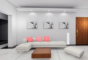 大戶型歐式室內布藝沙發背景墻裝修效果圖