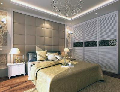 大戶型簡歐風格臥室背景墻裝修效果圖實例