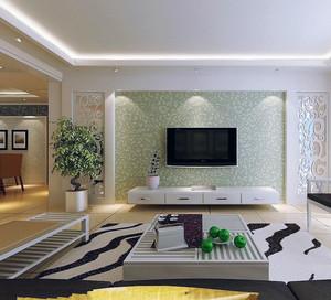 大户型欧式风格客厅电视墙背景足彩导航效果图