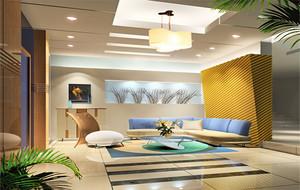 現代歐式客廳石膏板吊頂裝修效果圖實例