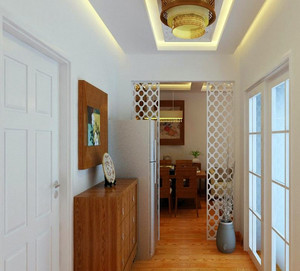 小戶型樸素古典的玄關裝修設計效果圖