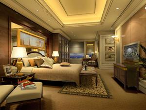 古典风格超大型别墅卧室设计装修效果图