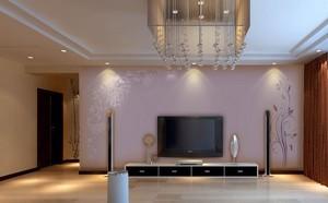 小户型欧式硅藻泥电视背景墙装修效果图