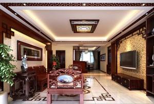 客厅 中式 局部其他 大户型装修