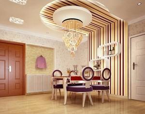 大户型唯美简欧风格餐厅背景墙装修效果图
