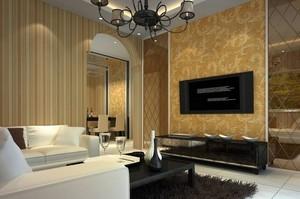 70平米精致的欧式电视背景墙装修效果图