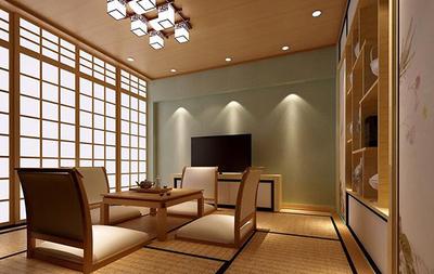 三居室日式风格榻榻米卧室装修效果图
