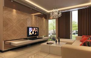 大户型现在简约客厅室内电视背景墙装修效果图
