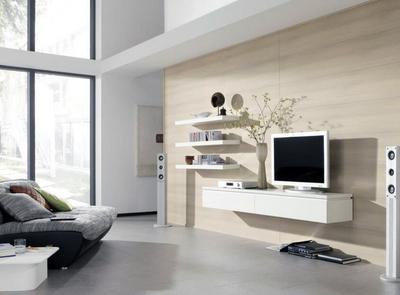 现代时尚的别墅型室内电视背景墙装修效果图