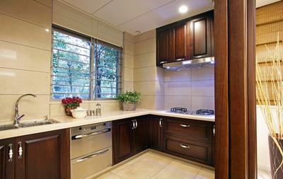 現代中式簡約廚房裝修效果圖