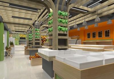 90平米大户型现代水果店室内吊顶装修效果图