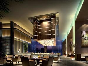 30平米现代酒店室内吊顶装修效果图欣赏