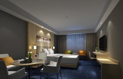 120平米简约宾馆室内卧室背景墙装修效果图