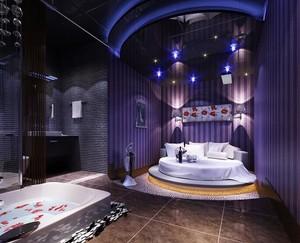 98平米精致宾馆背景墙装修效果图欣赏