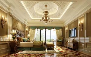 法式典雅奢华卧室整体装修效果图