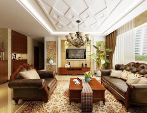 120平米古典法式風格客廳裝修效果圖