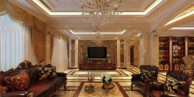古典歐式豪華別墅臥室裝修效果圖