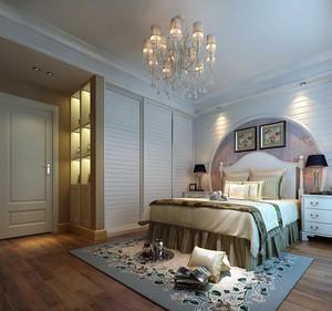 简欧风格别墅型卧室背景墙装修效果图实例