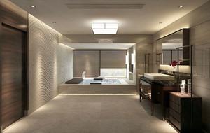别墅型豪华现代中式风格卫生间隔断装修效果图