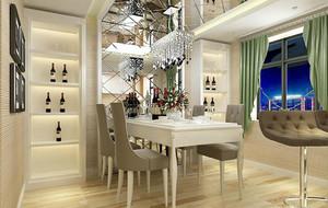 欧式风格精致的别墅型餐厅背景墙足彩导航效果图